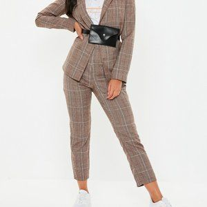 Missguided | NWT Woven Check Cigarette Trousers